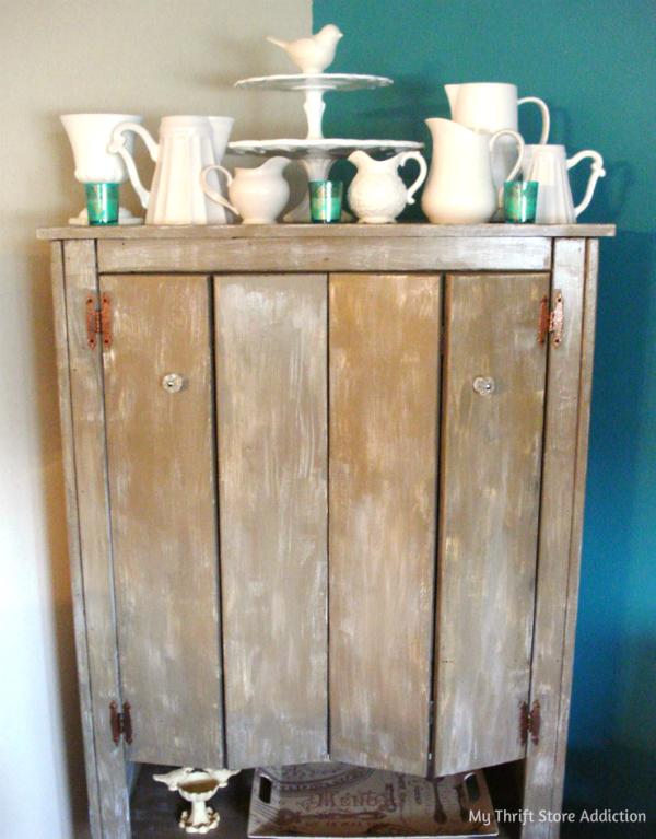 Repurposed armoire storage