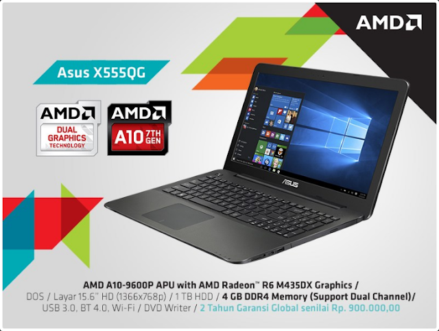 Kambuna Story: ASUS X555QG dengan AMD 7th generation dan dual graphics