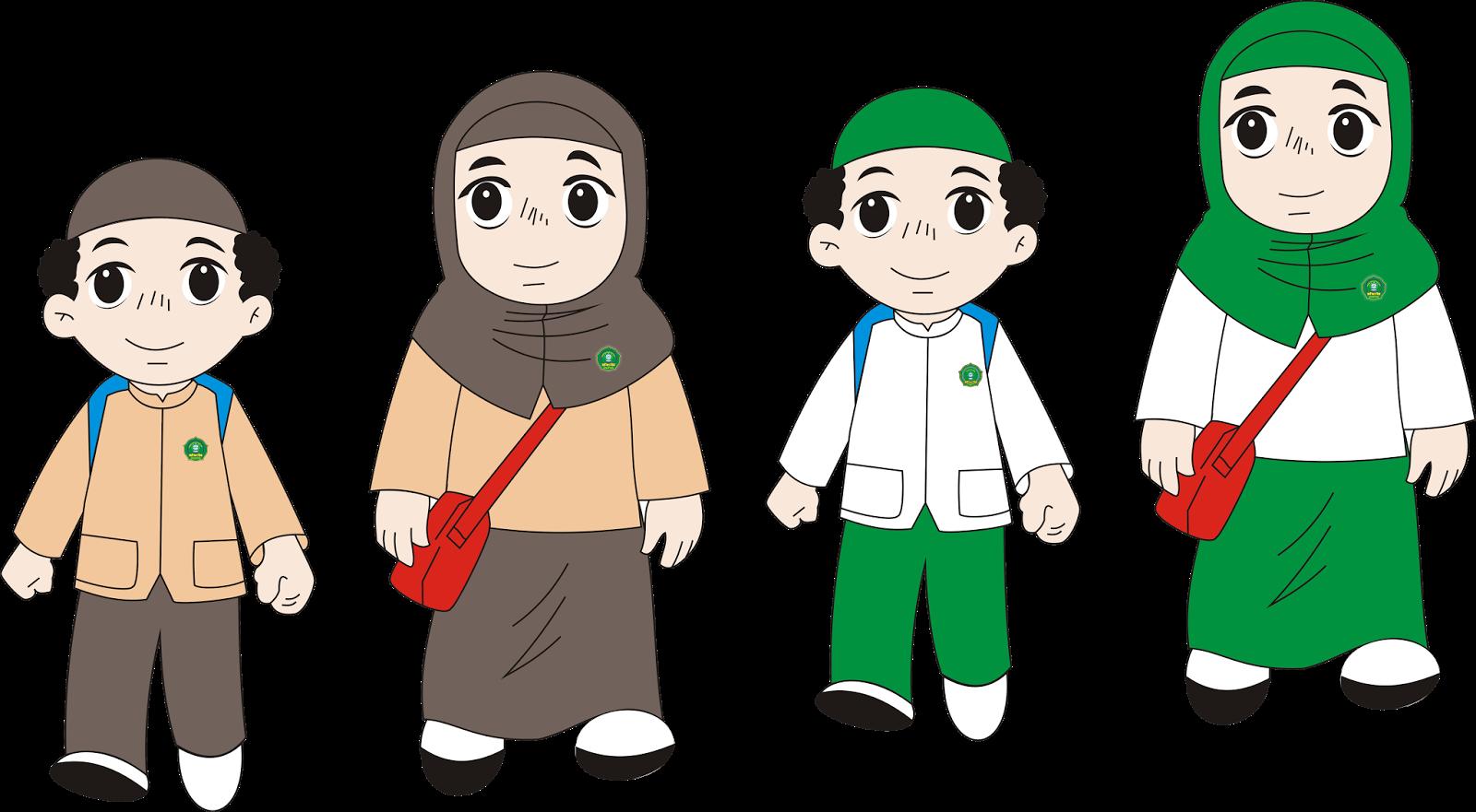Gambar Kartun Anak Sekolah Png Nusagates