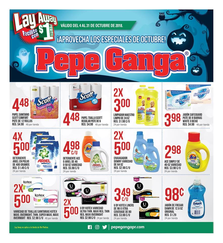 f38c7073f Especiales en las tiendas Pepe Ganga PR válidos del 4 al 31 de octubre de  2018