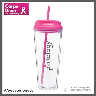 Promotional Pink Tumblers with Straw