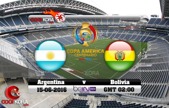مشاهدة مباراة الأرجنتين وبوليفيا اليوم 15-6-2016 كوبا أمريكا