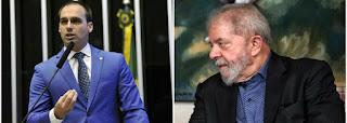 Desumano, filho de Bolsonaro agride Lula no dia da morte do neto de sete anos