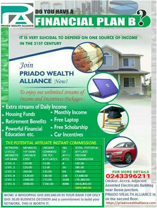 Make some money online Join PRIADO WEALTH ALLIANCE TODAY
