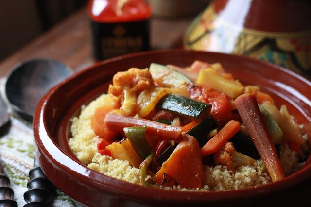 Moroccan Style Vegetables Couscous - Harissa