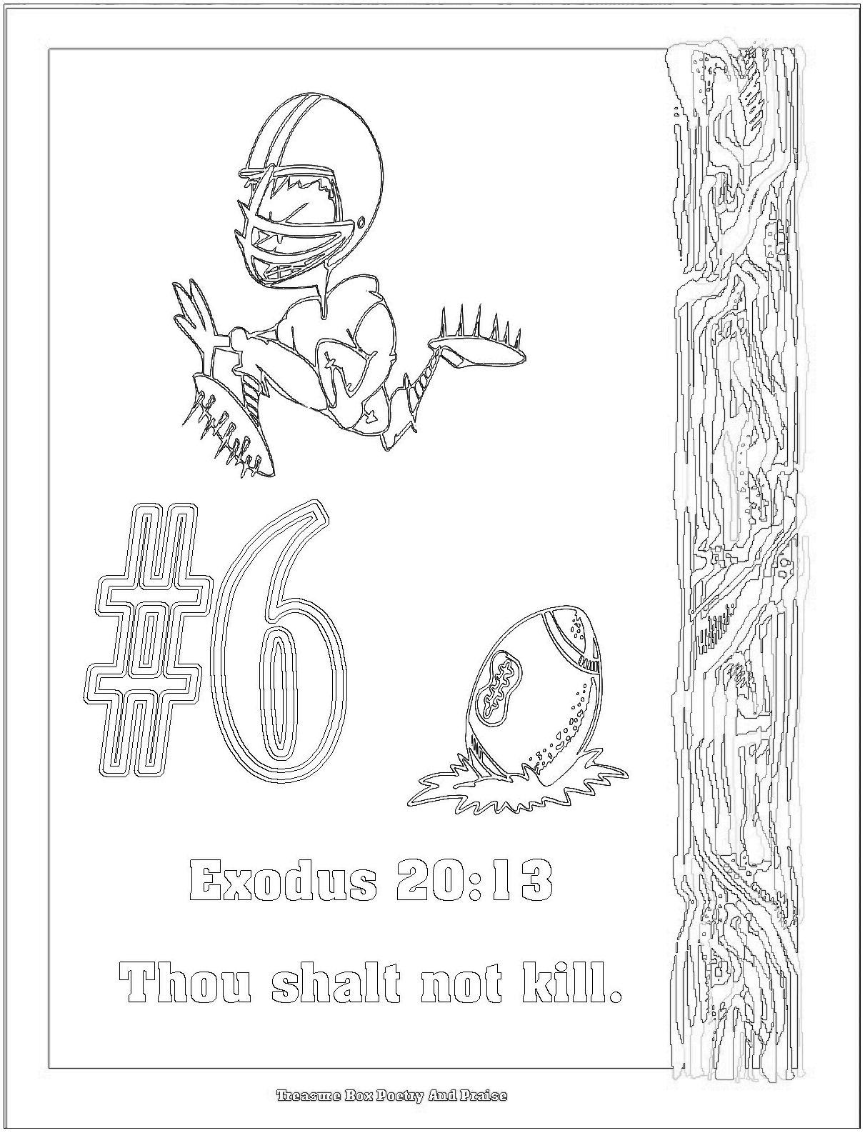 10 Commandments Coloring Pages...