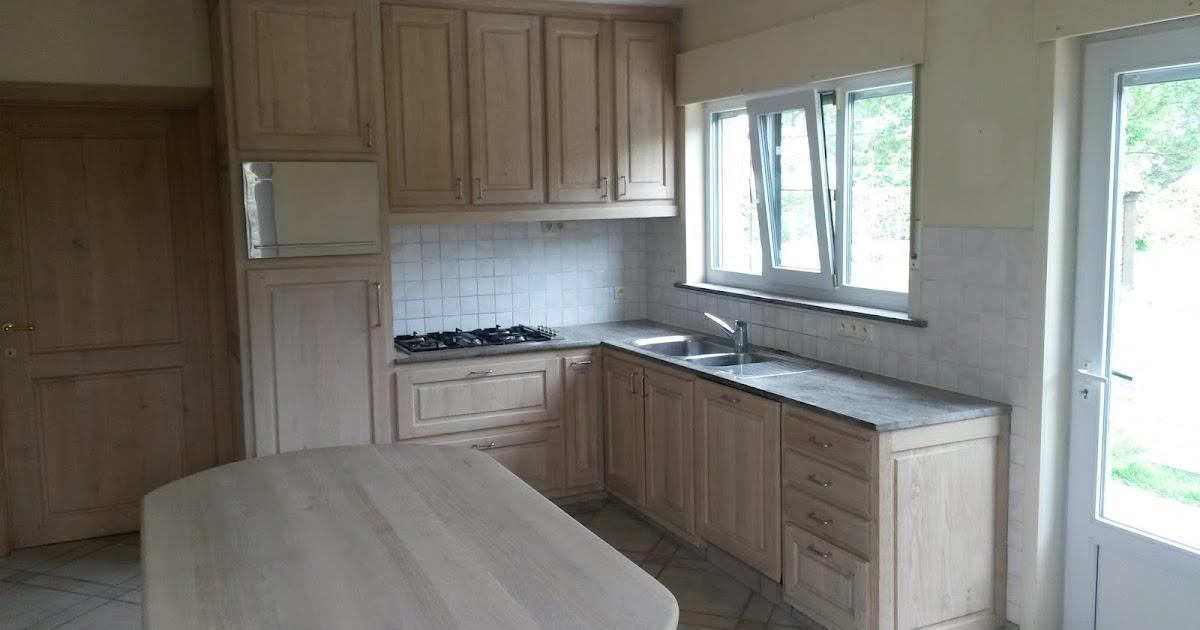 Eiken Keuken Beitsen : Meubelrenovatie Renovatie van een eiken keuken, eetplaats