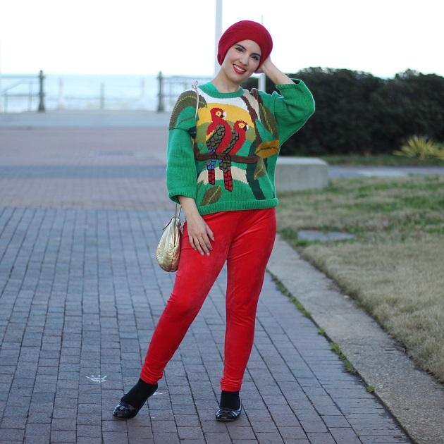 Green Parrot Sweater