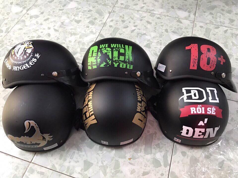 32k - Mũ bảo hiểm HALY đen đủ hình giá sỉ và lẻ rẻ nhất