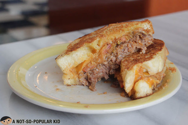 University Grilled Cheese Burger