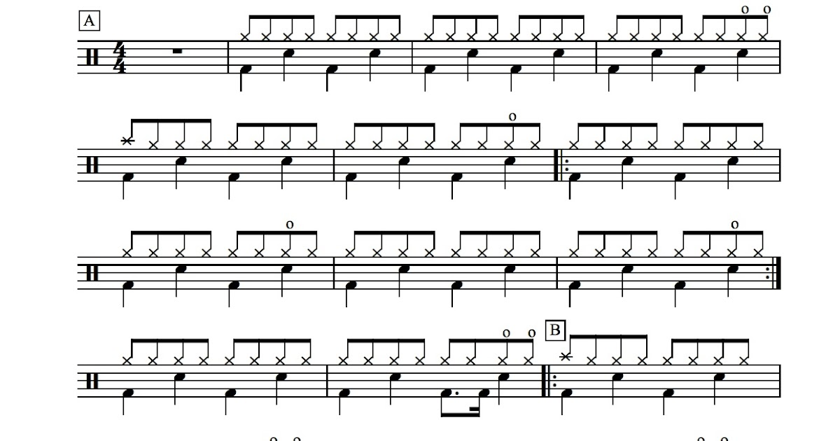 All Music Chords paramore sheet music : Score for Hoobastank - The Reason | Academy Drums