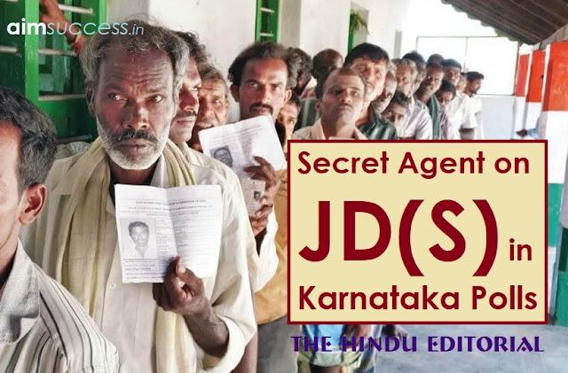 Secret agent: on JD(S) in Karnataka polls: The Hindu Editorial
