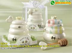 Souvenir Pot Madu Meant To Bee Atau Meant To Bee Honey Pot