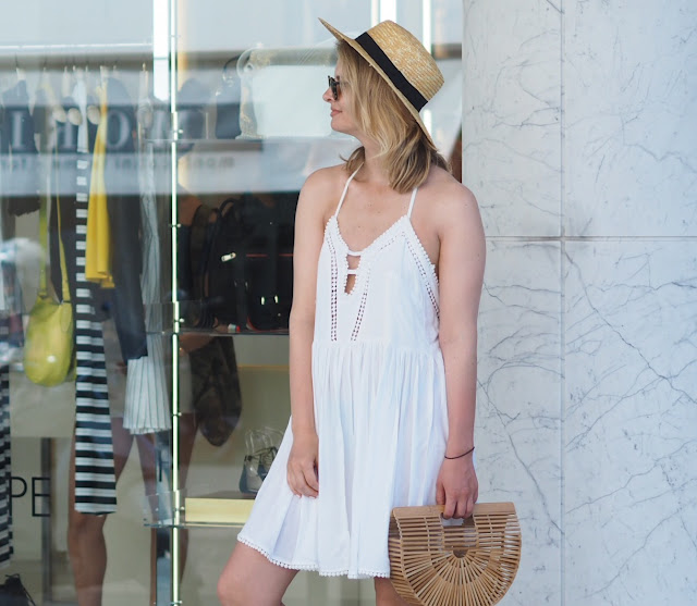 cult Gaia bag, bamboo bag, straw hat, summer dressing, forte Dei marmi