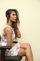 Nishi Ganda stunning cute in Flower Print short dress at Tick Tack Movie Press Meet March 2017 197.JPG