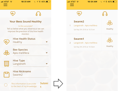 bee, beekeeping, crowdfunding, hive health estimation, screened bottom board, sound recording,