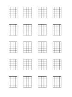 guitar chord diagram Blank Template Download