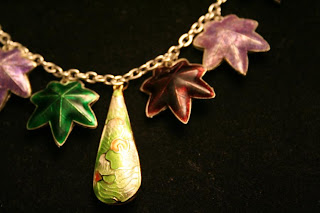 Seasons necklace: Sterling Silver, Cloisonne charms - Unique One-of-a-kind Jewelry by All Pretty Things