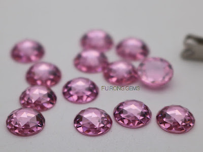 CZ-Pink-Color-Rose-Cut-8mm-Gemstones-Supplier