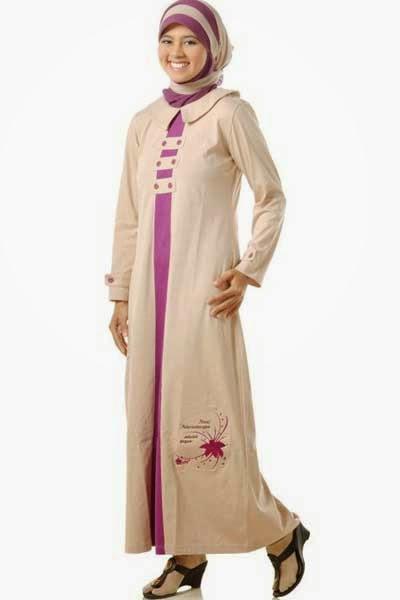 Model Baju Gamis dengan Jaket atau Blazer