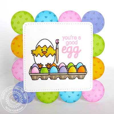 Sunny Studio Stamps A Good Egg Easter Chick Card
