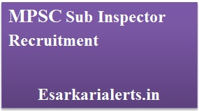 MPSC Sub Inspector Recruitment 2017