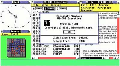 Windows 1.0 (Windows Graphic Environment 1.0)