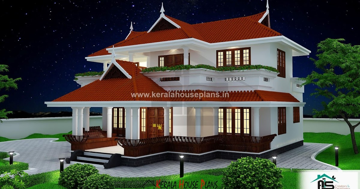 Veedu plan kerala traditional style home kerala house for Kerala traditional home plans with photos