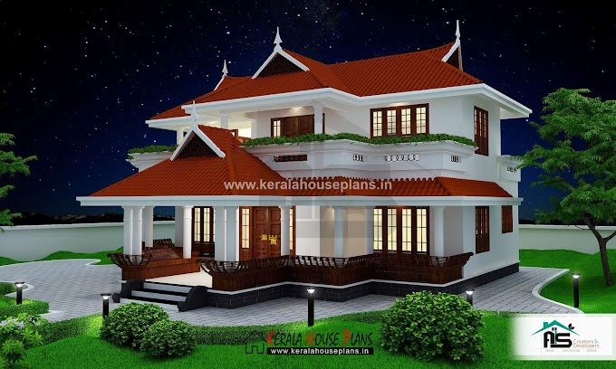 Veedu plan:Kerala traditional style home