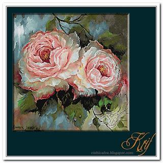 Схема вышивки Krif 1532 «Vis roz»