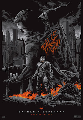 Batman v Superman: Dawn of Justice AP Variant Standard Edition Screen Print by Ken Taylor