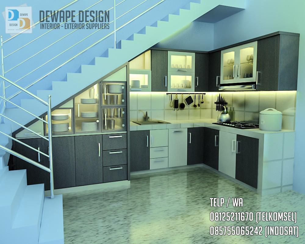 Model kitchen set di bawah tangga di kediri design for Kitchen set dibawah 5 juta