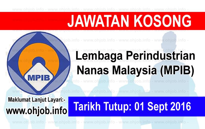 Jawatan Kerja Kosong Lembaga Perindustrian Nanas Malaysia (MPIB) logo www.ohjob.info september 2016