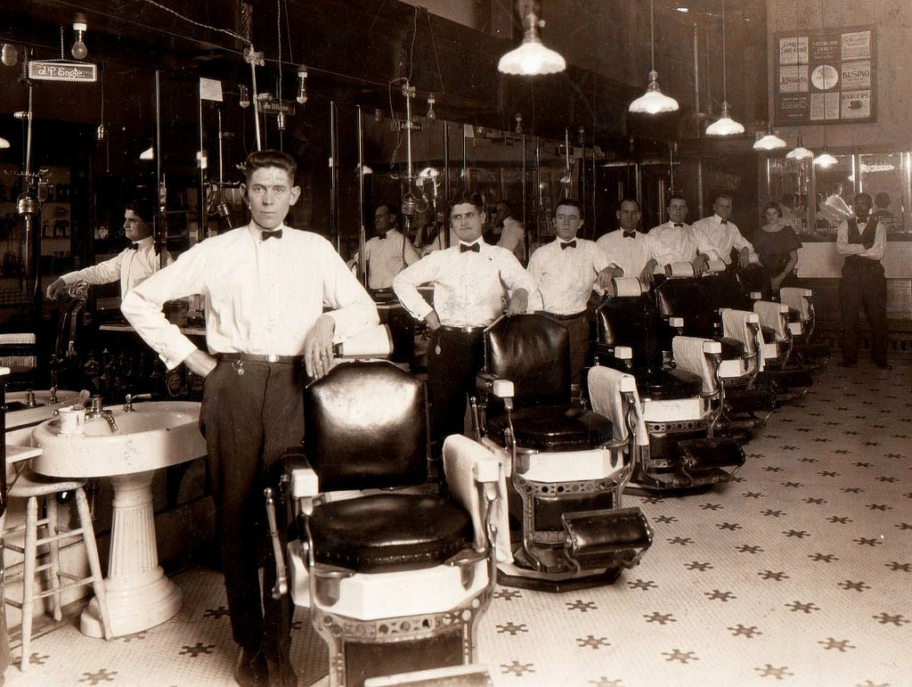 Old School Barber Chair 33 Rare Vintage Photographs Captured Barber Shops From