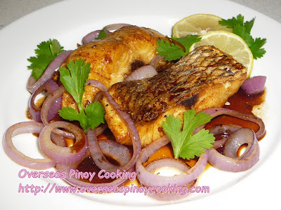 Fried Snapper Pinoy Bistek Style
