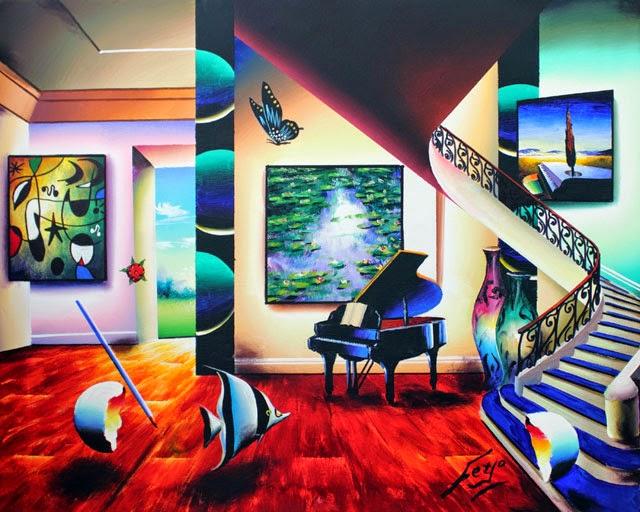 Quarto Tranquilo com Música - Ferjo e suas pinturas ~ O artista da pintura dentro de outra