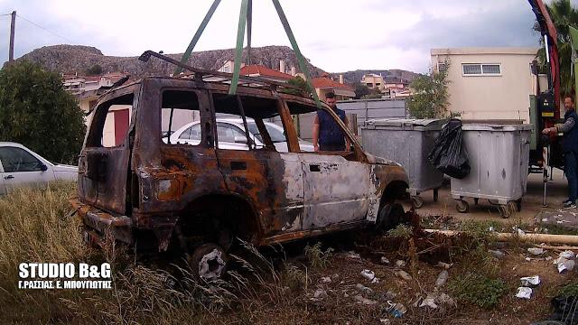 Στην Αστυνομική Διεύθυνση Αργολίδας το όχημα των δραστών που ανατίναξε το ΑΤΜ στο Λυγουριό