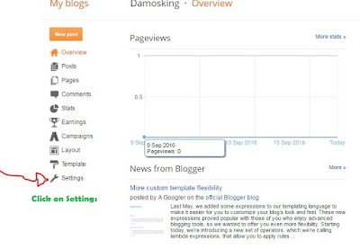 How To Setup Custom 1and1 Domain in Blogger:First Create free Blogspot