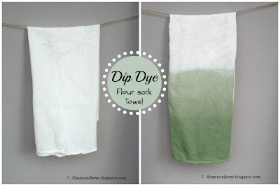 dip dye towel tutorial or diy