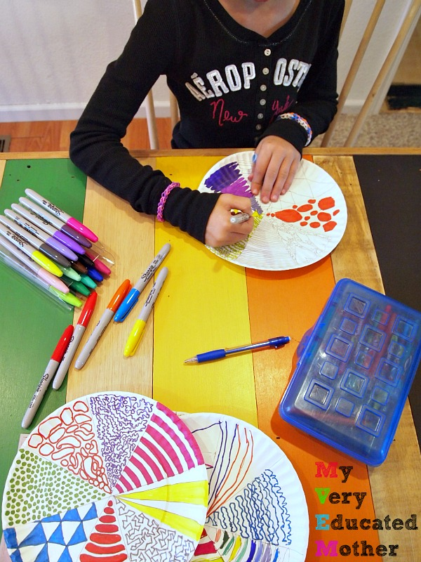 Coloring in Paper Plate Designs