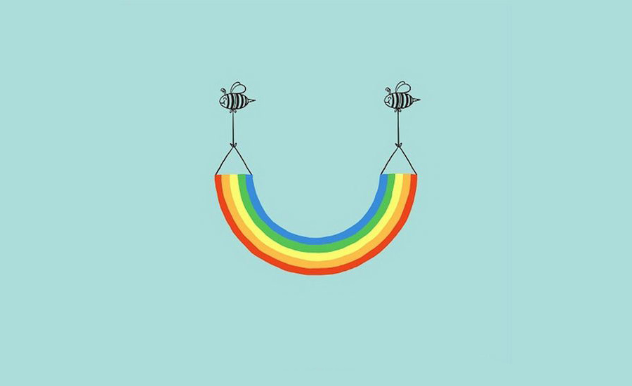 Arcoiris sonrisa