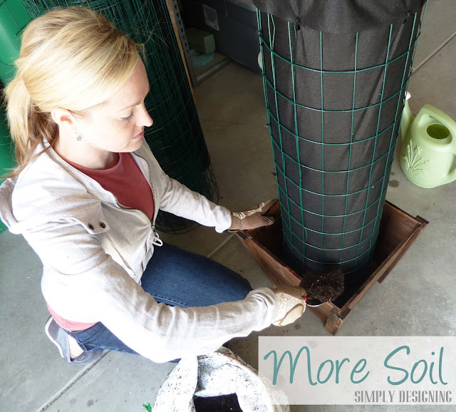 Soil, DIY Flower Tower, Simply Designing, #digin #heartoutdoors #spring #sponsored
