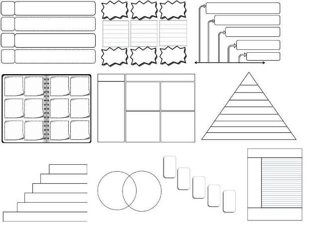 The Math Magazine: 44 Editable Graphic Organizers