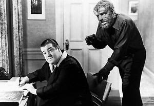 Lou Costello Lon Chaney, Jr. the Wolfman