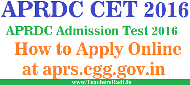 APRDC CET, Admission Test,How to Apply