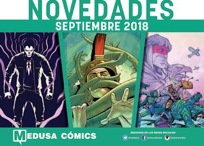 "Novedades agosto 2018 de ""Medusa Cómics""."