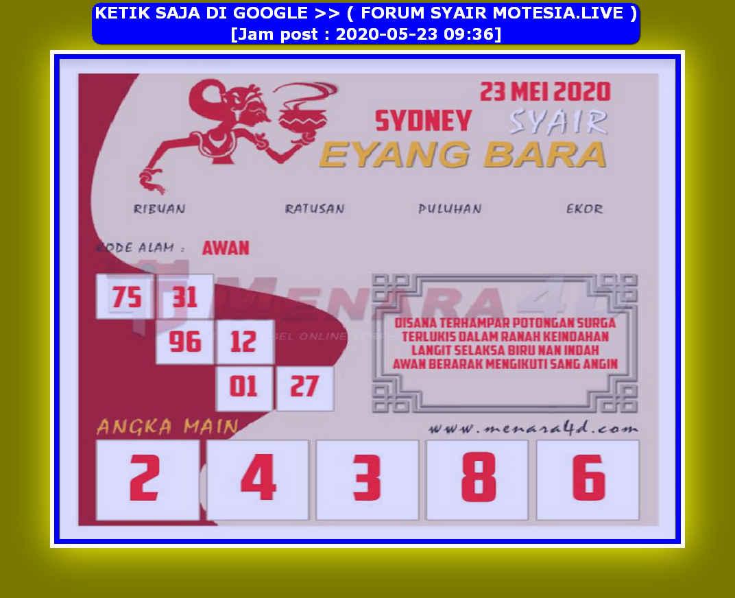Kode syair Sydney Sabtu 23 Mei 2020 230