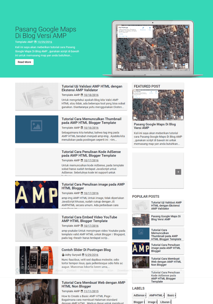 Kompi Best Free AMP Blogger Templates