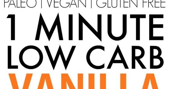Healthy  Minute Low Carb Vanilla Mug Cake