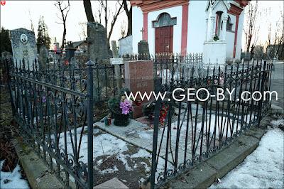 Могила Вацлава Ивановского на кладбище на Кальварии в Минске